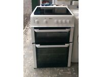 6 MONTHS WARRANTY, TRIPLE GLAZED Beko 60cm, double oven electric cooker FREE DDELIVERY