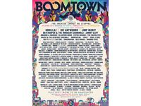 X2 boomtown tickets + campervan pass