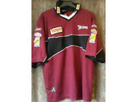 Leeds Rhino's AWAY Rugby League Shirt,. Barrie McDermott circa 2000/2001. XL