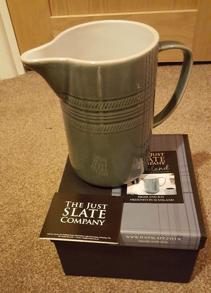 Large JUST SLATE Jug Pitcher - BNIB - Great Gift rrp £32