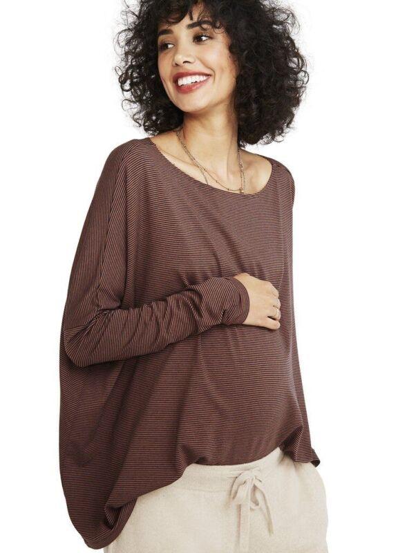 Hatch Maternity Women's THE LONGSLEEVE TEE Scotch/Midnight Size 1 (S/4-6) NEW