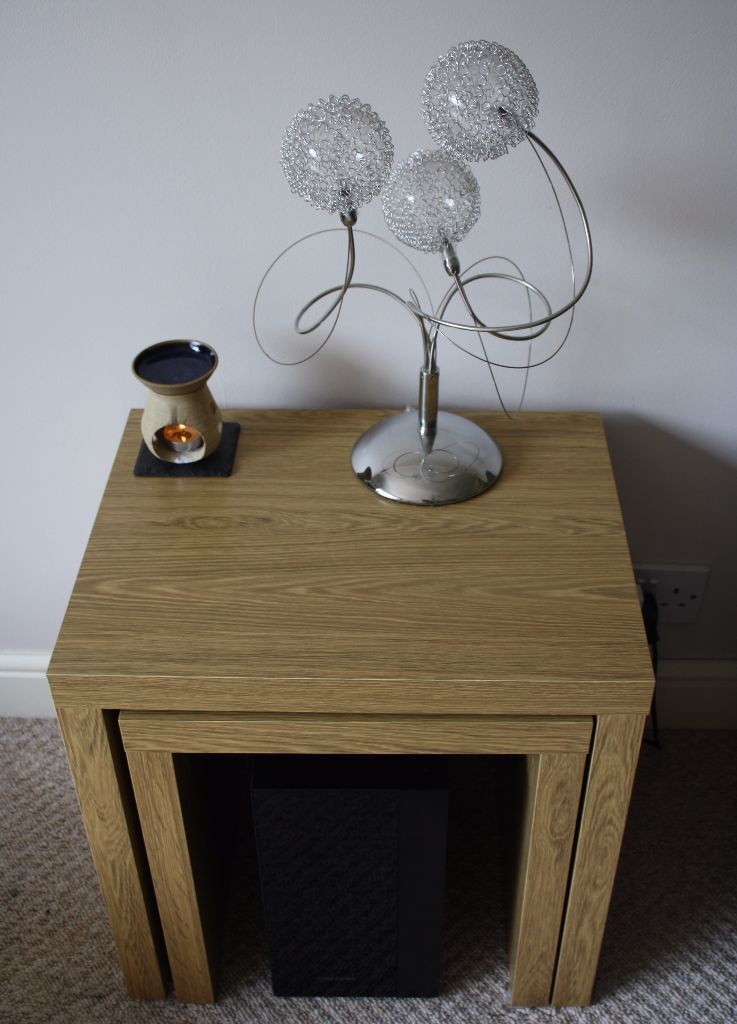 Next Opus Oak Effect Nest Of 2 Tables Side Nested Table Living