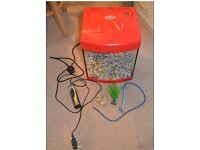 Aquarium Fish tank with accessories ( Filter, gravel, plant) must go ASAP