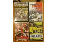 4 FOOTBALL DVDS