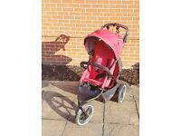 VERY GOOD PRICE! Phil and Teds Navigator 2 Auto Stop Double Buggy RED