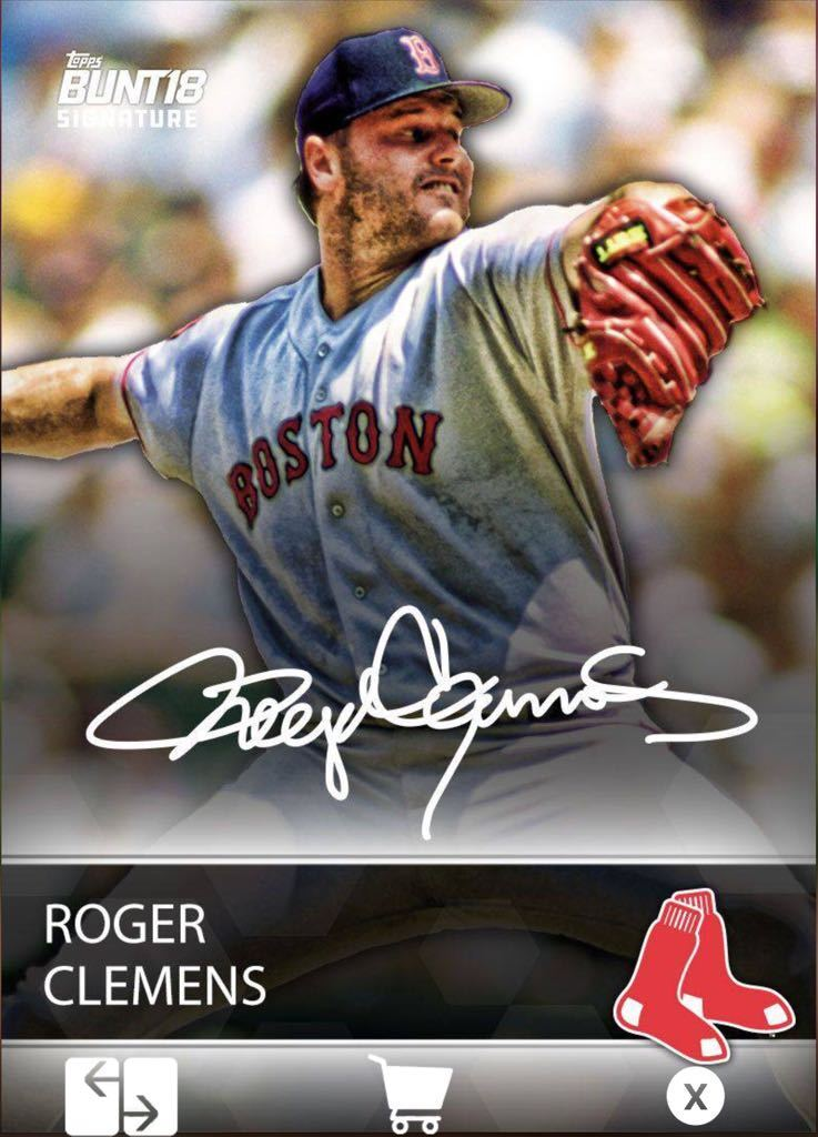 2018 RETRO SIGNATURE SILVER OFFSEASON ROGER CLEMENS Topps Bunt Digital Card