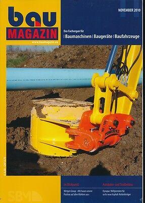 Baumagazin - Fachorgan für Baumaschinen - November 2010