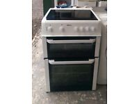 6 MONTHS WARRANTY, TRIPLE GLAZED Beko AA energy rated, double oven electric cooker FREE DELIVERY