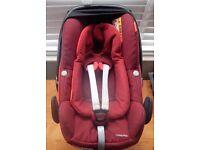 Maxi Cosi Pebble Plus Car Seat in Robin Red