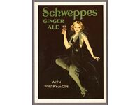 ROBERT OPIE POSTCARD *** SCHWEPPES GINGER ALE *** MINT CONDITION ***