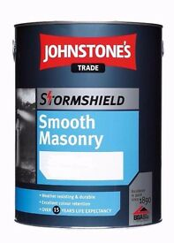 Johnstones Stormproof Smooth Masonry Trade Paint - Light Grey 1 x 5 litre tin New