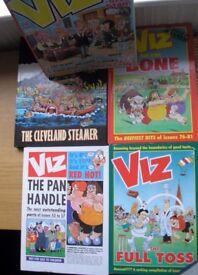 Viz Hardbacks and magazines