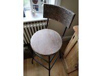Vintage kitchen stool. Vintage industrial factory stool. Retro bar stool. (1492)