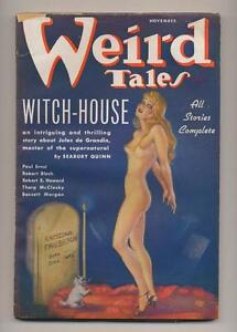 Weird Tales November 1936 Vintage Pulp Magazine Very Good Minus Robert E Howard