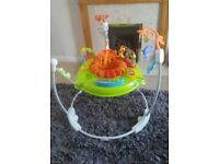 FISHER PRICE JUMPEROO rainforest bouncer baby toy activity