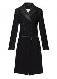 Coat -full circle trench coat military Black Size 14 Womens