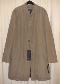 BUGGATI 42R Olive/Khaki Water Resistant Overcoat Mac. RRP £250. Brand New