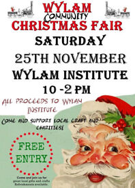 Wylam Community Christmas fair 25/11/17 10 - 14:00