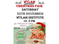 Wylam Community Christmas fair 25/11/17 10 - 14:00
