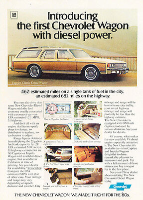 1980 Chevrolet Caprice Estate Wagon  - Classic Vintage Advertisement Ad H82 Chevrolet Caprice Estate Wagon