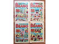 VINTAGE BEANO COMICS DENNIS THE MENACE Edition.2311-2315 Nov 1986 COMIC SET 4 MAGAZINES £2.50 Each