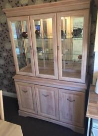 Pine and glass / mirror cabinet