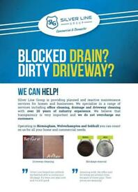 High Pressure jetting, Drainage, driveway cleaning, jet wash from £25