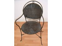 Black wicker conservatory chair