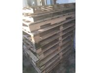 11 wooden pallets