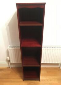 Attractive Slim Mahogany Effect Book Case Shelving Storage Unit Shelves FREE LOCAL DELIVERY!