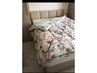 King Size divan bed with 4 drawers and headboard - used 5 times as guest room bed - rrp £650