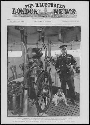 1904 Antique PORTRAIT  Print - ROYAL NAVY Vice Admiral Charles Beresford (281)