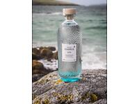 Wanted. Empty Isle of Harris gin bottle.