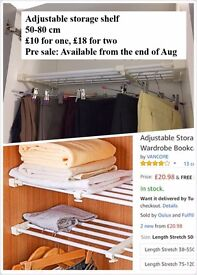Adjustable Storage Rack Shelf for Cupboard Refrigerator Wardrobe Bookcase Compartment Collecting