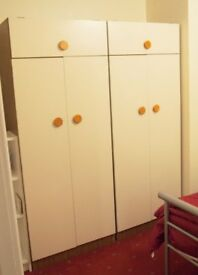 2 DOUBLE WARDROBES