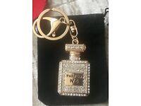 Lovely perfume bottle keyring/bag charms