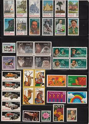 1988 US  COMMEMORATIVE YEAR SET 39 STAMPS MINT NH