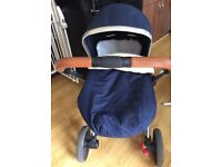Mothercare orb limited edition pram comes with maxi cosi car seat adapters and rain covers