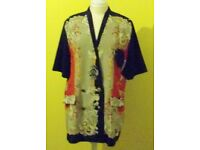 Ladies Simply Style Designer Short Sleeved Summer Jacket. Size 18
