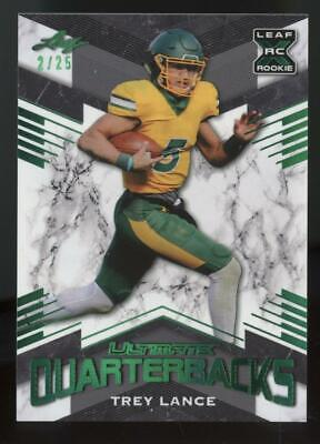 2021 Leaf Ultimate Quarterbacks XRC Green #6 Trey Lance 2/25 RC Rookie