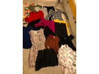 Bundle of Women Clothes-size 10 dresses, trousers, shirts, T-shirts