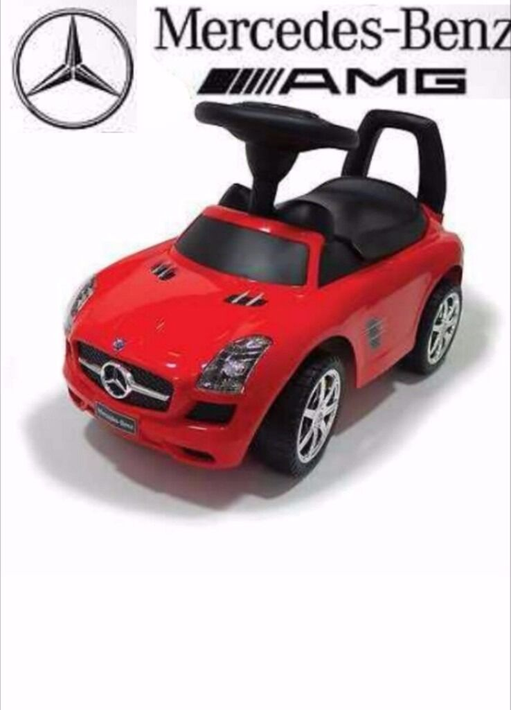 Mercedes Benz SLS AMGPush/Ride on Car with sound effects, Brand NewBoxed Rrp49.95in Birmingham City Centre, West MidlandsGumtree - Ride on/push along kids MERCEDES car is solid, stable & safe. This toy allows your child to practice & develop physical fitness. It has a storage under the seat for small toys, musical panel & a funny beep sound button on the steering wheel. The car...