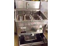 KEBAB CAFE VALENTINE FRYER MAXI P 94 ELECTRIC CHIPS FRYER WITH PUMPED OIL FILTRATION RESTAURANT