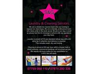 Steam and gleam cleaning and laundry services
