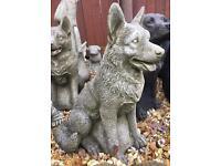 Stone Garden dogs French Bulldog Alsatian Labrador boxer bull terrier