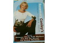 Rosemary Conley Fitness Triple dvd pack with amazing inch loss dvd pack