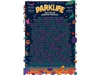 ** 2 X PARKLIFE WEEKEND ** general admission tickets £200