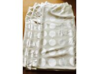 2 x pairs Ikea Ninni rund curtains PERFECT FOR TENEMENT WINDOWS cream/light beige £30 for the lot