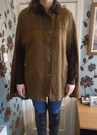 ASOS ladies brown cape coat size 10