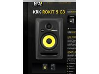 2 x Brand New KRK Rockit 5 G3 Studio Monitor Speakers Pair [ Unboxed ]